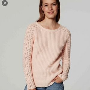 Loft Womens Brown Cable Knit Sweater